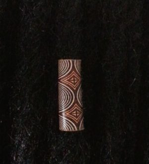Amazonian Leather Hair Loc Bead Foxtrot Designs
