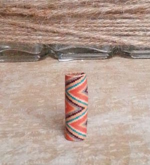 Patterned Leather Loc Bead Aztec