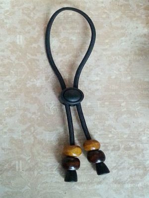 Adjustable Hair Tie Caramel & Dark Brown