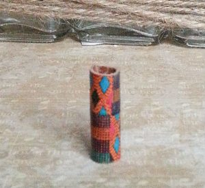 Patterned Leather Loc Bead Kente