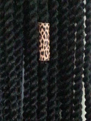 Leather Loc dreadlock Cheetah Bead