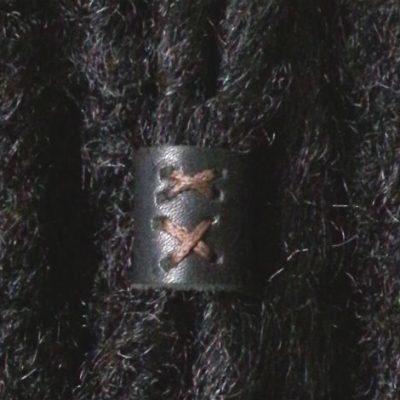 Leather Hair Ring Black