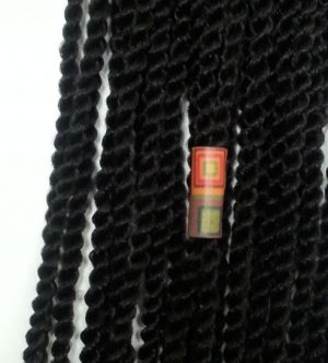 Quilt Leather Loc Hair Bead