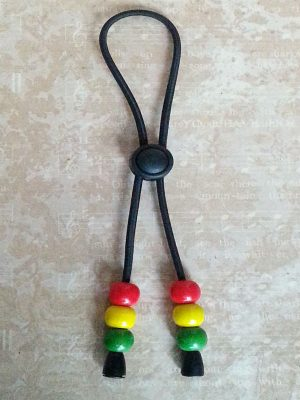 Adjustable Hair Tie Red, Gold, Green Rasta style