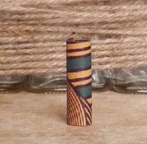 Patterned Leather Loc Bead Turquoise Geo
