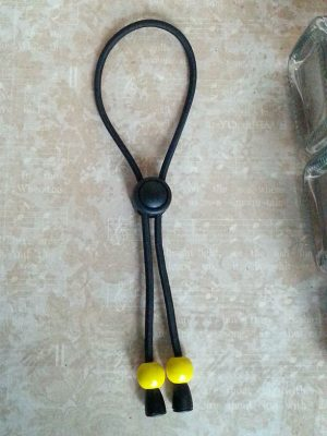 adjustable hair tie dreads yellow beads