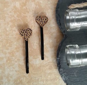 Animal Print Cheetah Hair Clips