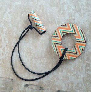 Aztec Wood Hair Tie