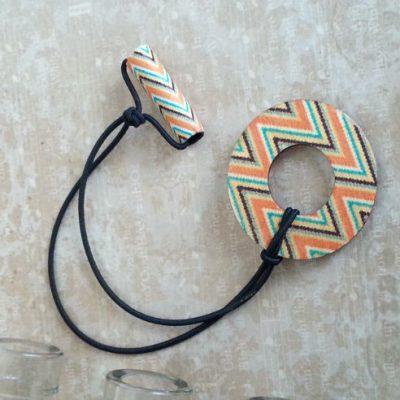 Aztec Wood Hair Tie