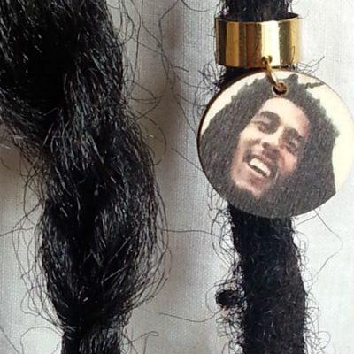 Bob Marley Wood Hair Ring 2