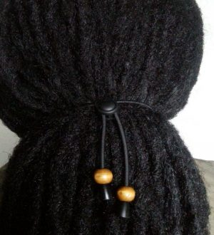 adjustable hair tie caramel