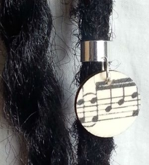 Music Wood Hair Ring