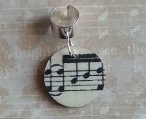 adjustable hair ring musical notes