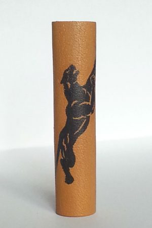 black panther long leather loc bead