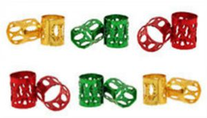 Dreadlock cuffs Red, Gold, Green