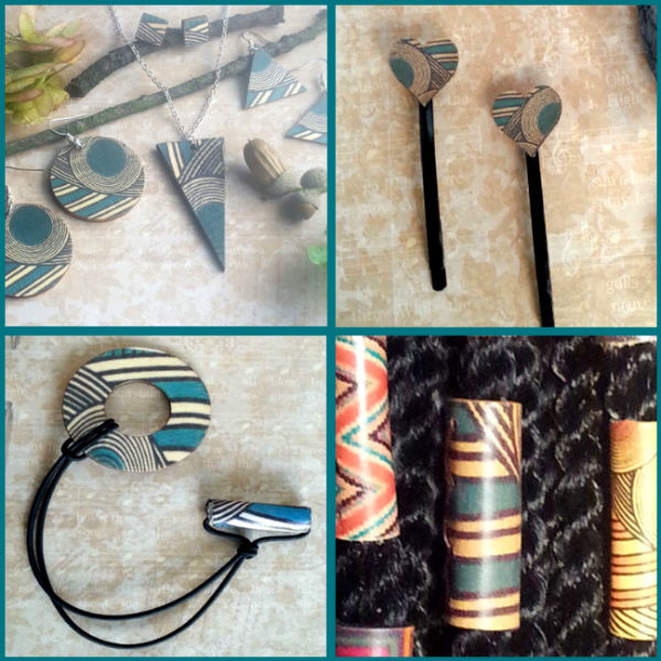 Display Turquoise Geo Hair Accessories