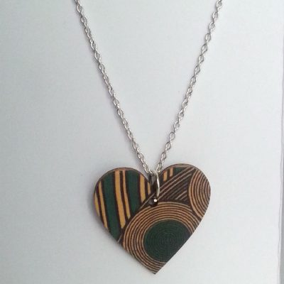 Heart Necklace Turquoise Geo Foxtrot Designs