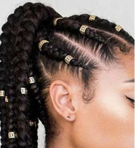 loc cuffs in braids