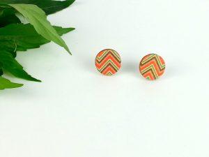 Aztec Stud wooden earrings