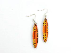 Orange Kente earrings