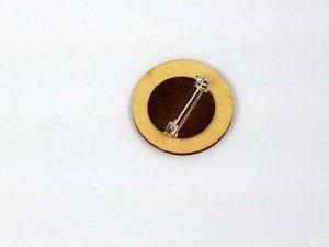 back of circle brooch pin