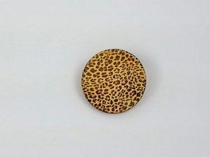 leopard print circle brooch