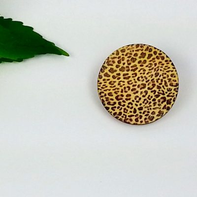 leopard print circle brooch