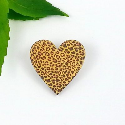 animal heart brooch