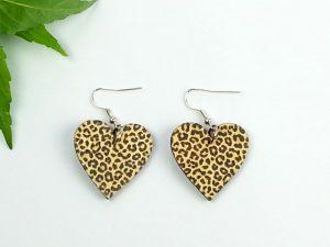 animal heart earrings