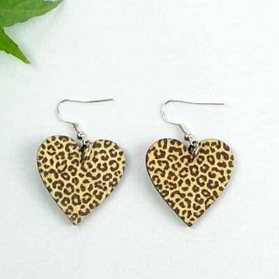 animal heart earrings