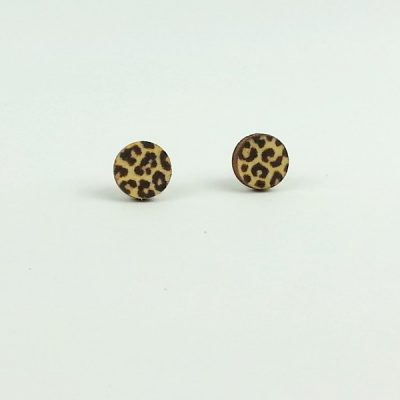 leopard print stud earnings
