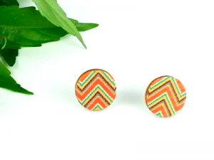 aztec stud earrings