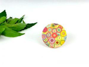 bohemian flowers brooch
