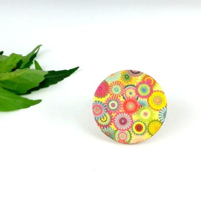 bohemian flowers brooch
