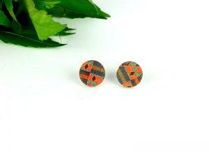 African kente stud earrings