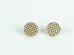 modern mesh stud earrings