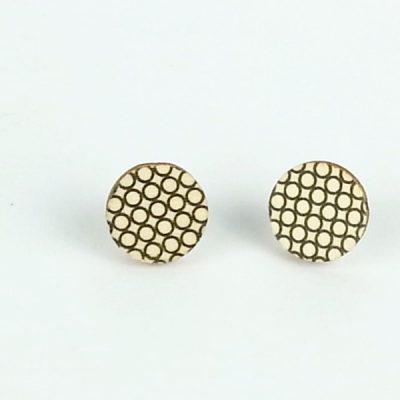 modern mesh stud earrings