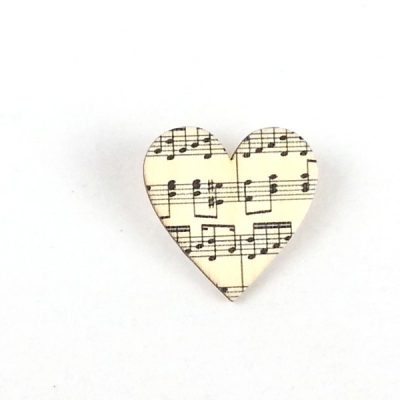 Heart brooch music