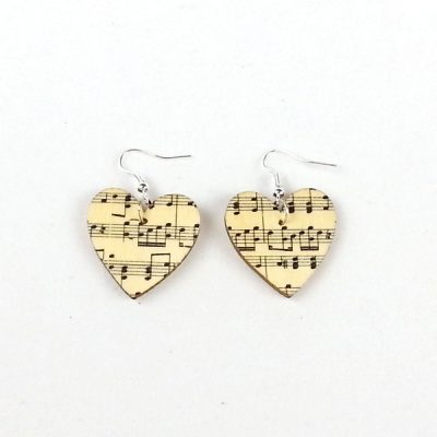 Heart earrings music