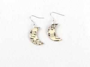 music moon earrings