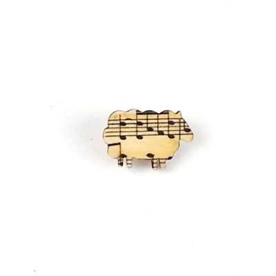 Brooch badge animal sheep music